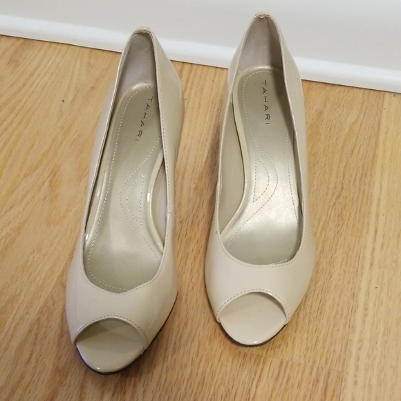 Guess Shoes   Guess Patent Leather Peep Toe Heels   Poshmark